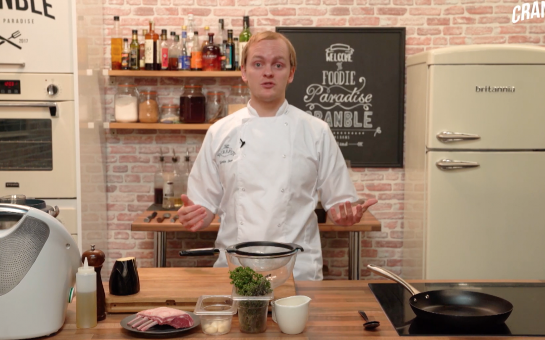 Dish Demo: Lamb Rack with Wild Garlic Pesto & Ratatouille